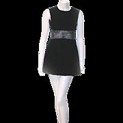 Victor Costa Illusion MIDRIFF Romantica PARTY Dress Black Velvet Size 6