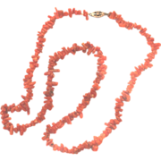 "Vtg Branch Coral Necklace 14K GF Gold Filled Clasp 18"" Dainty"