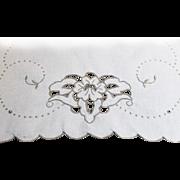 Madeira Piano Dresser Ecru Scarf CUT WORK Linen Table Runner