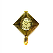 Caravelle by Bulova Pendant Watch WEST GERMANY Goldplated Mechanical 1967