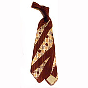 "VIntage Men's 40s Tie Necktie  4 1/4"" Wide"