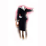 REDUCED Designer Sample Ladies PEPLUM 2 Piece Dress Suit VELVET SOUTACHE Trim 1980s Size 14
