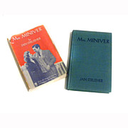 1940 Mrs. Miniver Book by Jan Struther WWII Novel Classic!!