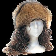 Fox Fur Hat Swirled Design Zhivago Styling