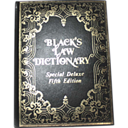 REDUCED Black's Law Dictionary Special DELUXE FIFTH Edition 1979 Leather Bound