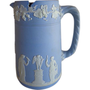 Wedgwood Jasperware Pitcher Sterling Lid The Sacrifice 1873