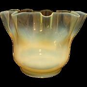 SALE Victorian Vaseline Opalescent Oil Lamp Shade