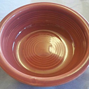 "SALE Rose Fiesta Ware 4 3/4"" Fruit Bowl Nappy"