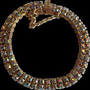 Signed Sherman Bracelet Aurora Borealis