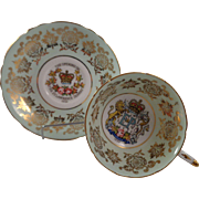 Paragon Cup & Saucer Queen Elizabeth Prince Phillip Opening of the ST. Lawrence Seaway 1959