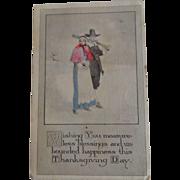 Gibson Art Co Hand Coloured Postcard Thanksgiving