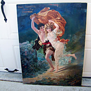 "SALE Rare 1904 Paul Garrett's Special Dry Champagne ""The Storm"" Advertising Sign for the"