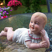 """Nice Vintage Germany 1900's 6-1/8"""" """"Reclining Piano Baby"""""""