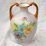 """Beautiful Limoges France 1900's Hand Painted """"Blue, Purple, & Yellow Pansy"""" 4-5/8"""""""