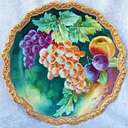 """Gorgeous Vintage 1900''s Comte D'Artois Limoges France Hand Painted Vibrant """"Purple & Yel"""