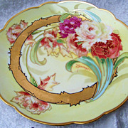 """SALE Gorgeous Vintage 1910 Chicago's Julius Brauer Studio Hand Painted """"Red & White Roses"""