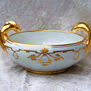 """Attractive & Fancy Vintage 1906 Bavaria & J.H.Stouffer Studio of Chicago Hand Painted """"Fl"""