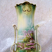 """SALE Exceptional RS Prussia 1900's Scenic """"Sheepherder"""" 9-1/2"""" Art Nouveau Shap"""