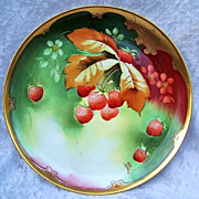 "Exceptional GDA France Limoges & Chicago Decorator; J.H. Stouffer 1905 Hand Painted ""Stra"