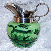 Gorgeous Early 1900's In the Tradition of New England Mt. Washington Glass is this Hand Painte