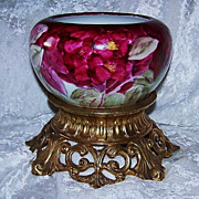 "Gorgeous Rosenthal Selb Bavaria 1900's Hand Painted Vibrant ""Deep Red Roses"" Floral"