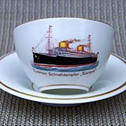"SALE Scarce  Carstens Kommandit-Gesellschaft 1930's German Cruise Liner ""Europa"" Hand Pa"