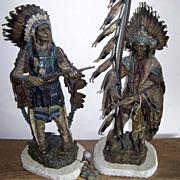 SALE Magnificent Original Museum Quality 1895 Circa Carl Kauba's Native American Warriors ..