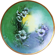 "Attractive Thomas Sevres Bavaria 1912 Hand Painted ""Wild White Flowers"" 9"" Plat"
