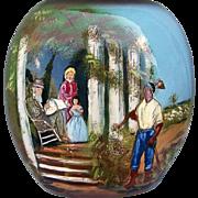 "Wonderful Adrian Art Pottery, Roseville, Ohio 1980's Black Americana 10"" Vase by Artist,"