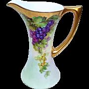 "SALE Outstanding Vintage Uno Favorite Bavaria 1900's Hand Painted ""Purple & Green"" 9"