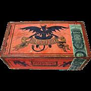 "SOLD Rare Museum Quality Reliance Cigar Factory, NYC 1877-80 ""Diabolique"" Devil Wood"