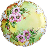"SOLD Gorgeous Limoges France 1900's Hand Painted ""Apple Blossoms"" 8-3/4"" Plate"