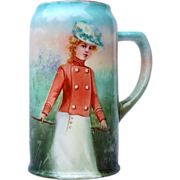 """Outstanding Belleek CAC Ceramic Arts Company 1900's """"Victorian Lady in Riding Attire"""""""
