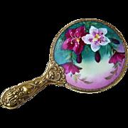 """SALE Gorgeous Vintage European 1920's Hand Painted """"Purple & White Geranium"""" Serpent"""