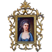 "Royal Vienna Exquisite 19th Century Hand Painted Portrait of ""Countess Potocka"", 12"""