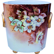 """Gorgeous H & Co. Selb Bavaria 1900's Hand Painted """"Light Yellow Roses"""" 8-1/2"""""""