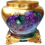 "SOLD Fabulous Vintage Limoges France 1900's Hand Painted ""Deep Purple Violets"" On He"