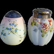 """Gorgeous Mt. Washington Smith Bros. Hand Painted 1880's Egg Shape Enameled Flowers 4-1/2"""""""