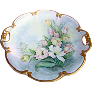 """Beautiful Hutschenreuther Bavaria Germany 1900's Hand Painted """"White, Pink & Yellow R"""