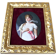 "SALE Fabulous Vintage Royal Vienna 1900's Hand Painted Portrait of ""Queen Louise of Pruss"
