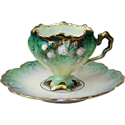 """SALE Exquisite RS Prussia 1900's Floral """"Baby Breath"""" Fancy Dematisee Scallop &"""