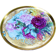"""SALE 16-1/8"""" Magnificent Museum Quality T & V Limoges France 1900's Hand Painted Vibrant"""