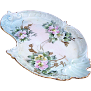 """SALE Beautiful CA France Limoges 1900's Hand Painted """"Pink, Yellow, & White Pansies"""""""
