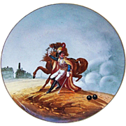 """SALE Fabulous 14-1/4"""" France Pre-1900 Hand Painted Battle Scene of the """"Wounded ..."""