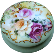 """SALE Outstanding Limoges France 1900's Hand Painted """"Red, Pink, & Yellow Roses"""" Flor"""
