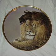 """SALE RARE J & C Bavaria HP 1900 """"Lion"""" Portrait 9-7/8"""" Plate by Chicago Decorat"""