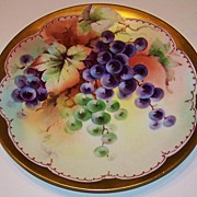 "Vintage 1900's Bavaria Hand Painted ""Grapes"" 8-3/8"" Plate by Pickard Artist, """