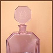 Czech Hoffman Lavender Lady and Bubbles Decanter