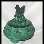 Czech Ingrid Figural Malachite Powder Jar Box