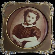 Antique Brass Ornate Columbia Portrait Company Frame
